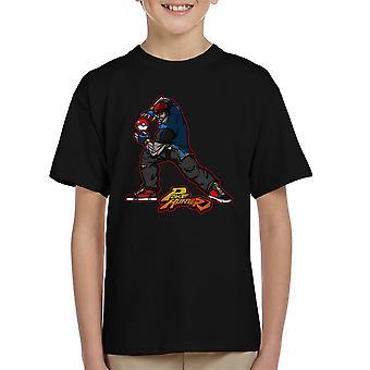 Poke Hunter Pokemon Street Fighter børne T-Shirt
