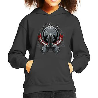 One Is All All Is One Fill Metal Alchemist Kid's Hooded Sweatshirt