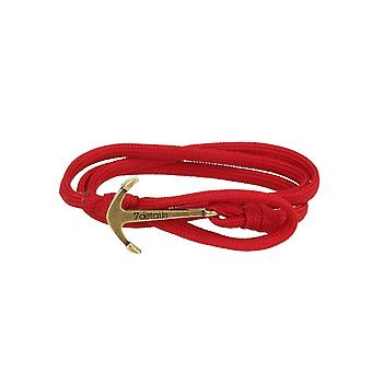 7details premium anchor bracelet for men and women in red Merlot made in Spain