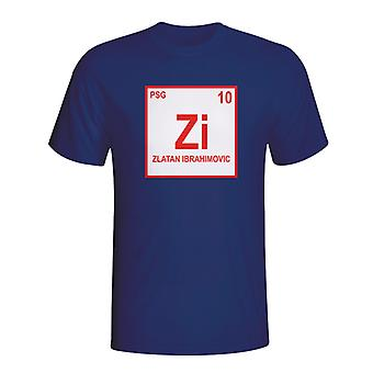 Zlatan Ibrahimovic Psg Periodic Table T-shirt (Marine)
