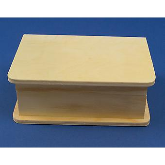 Book Style Wooden Box with Magnet Close to Decorate - 15.5cm x 11cm x 6cm