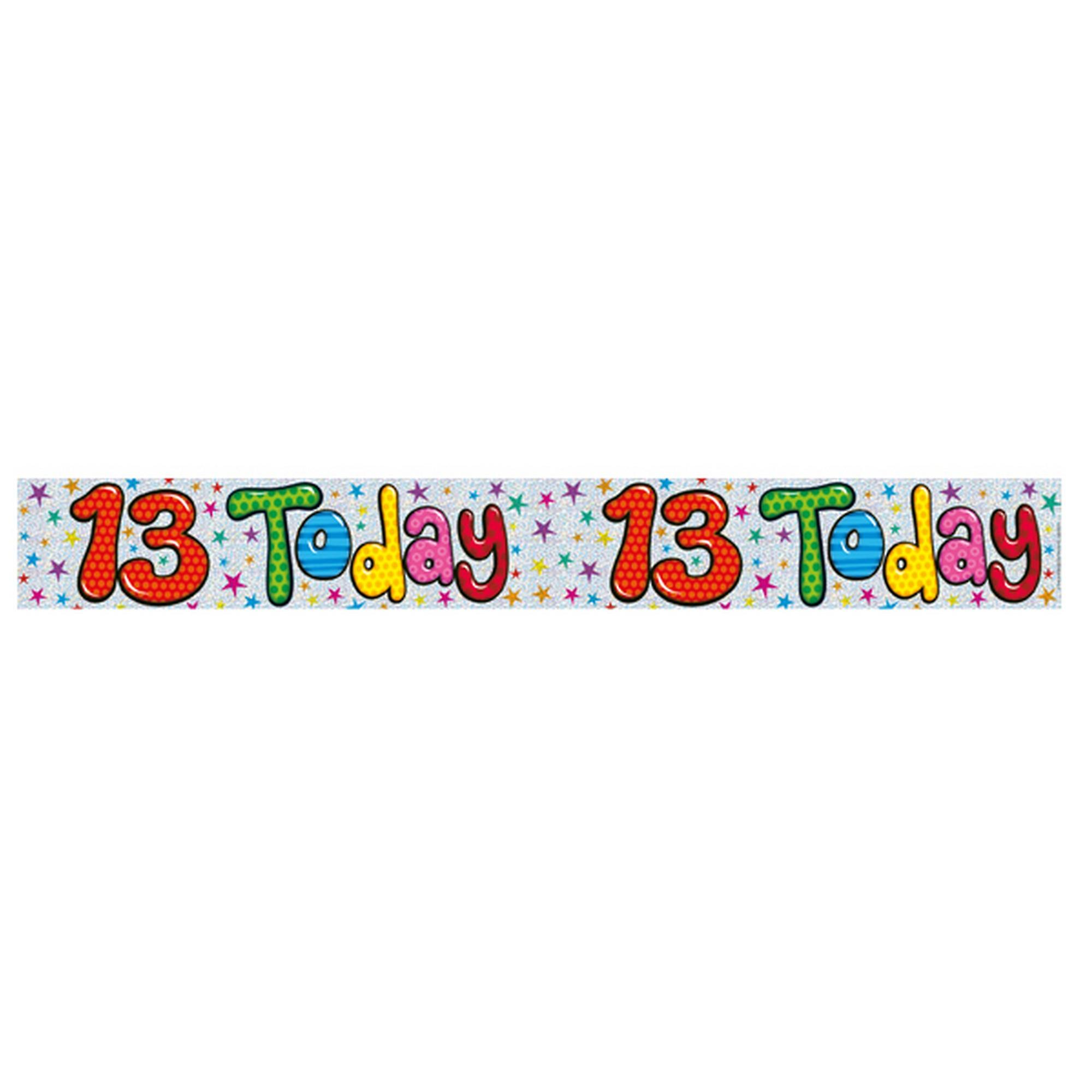 Expression Factory Childrens/Kids 13 Today Foil Birthday Banner