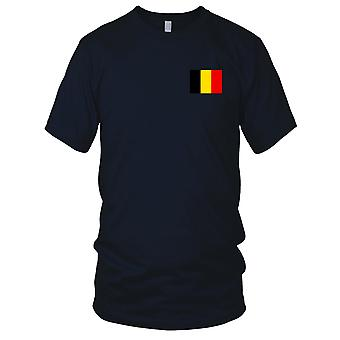 Belgien land nationale Flag - broderet Logo - 100% bomuld T-Shirt damer T Shirt