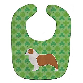 Carolines Treasures  BB6438BIB Australian Shepherd Dog Shamrocks  Baby Bib
