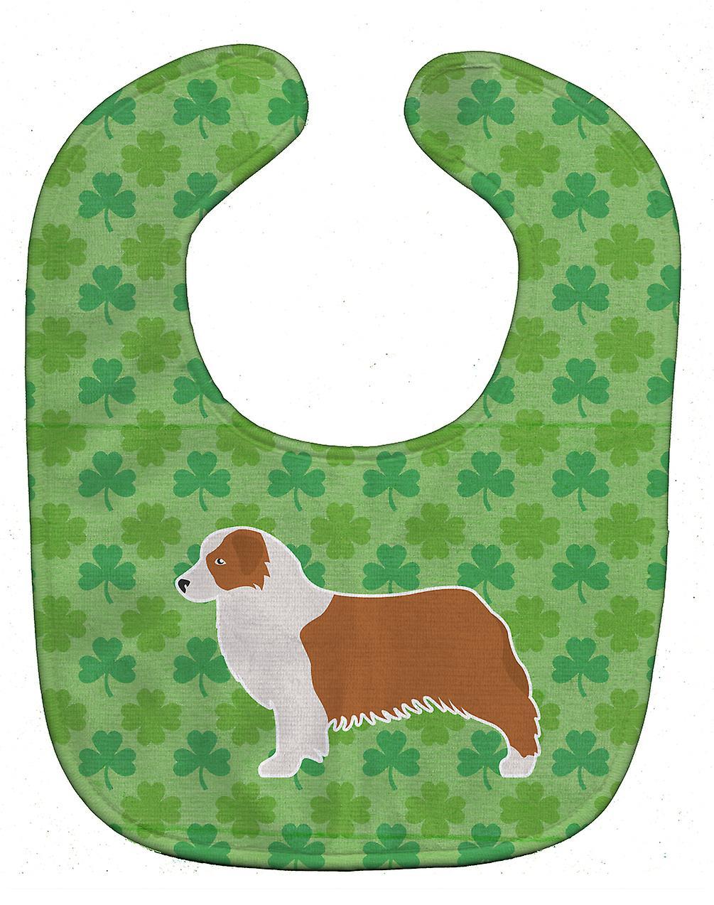 Carolines Treasures  BB6438BIB Australian Shepherd Dog Shamrocks  Baby Bib