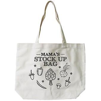 Mamas lager op Bag kvinders 100% bomuld lærred Tote taske, genanvendelige øko-taske