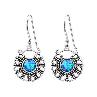 Bali - 925 Sterling Silver Opal And Semi Precious Earrings - W32048x