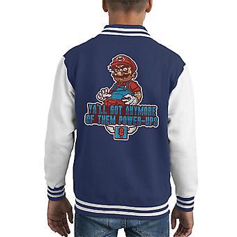 Cold Turkey Super Mario Power Ups Kid's Varsity Jacket