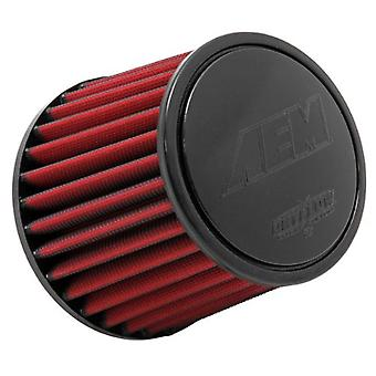 AEM 21-202DK Universal DryFlow Clamp-On Air Filter: Round Tapered; 2.75 in (70 mm) Flange ID; 5.25 in (133 mm) Height; 6