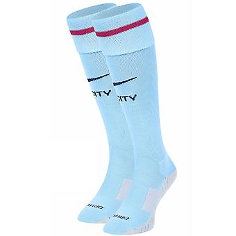 2017-2018 Man City Nike Home Socks (Blue)