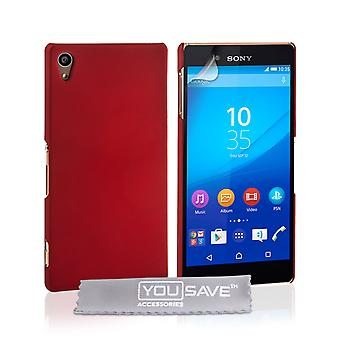 Yousave Sony Xperia Z3 Plus Hard Hybrid Case - Red