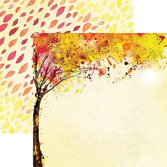 Watercolor Fall Double-Sided Cardstock 12