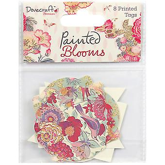 Dovecraft Painted Blooms Cardstock Tags 8/Pkg- DCTOP045