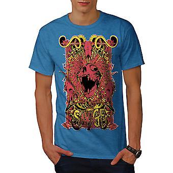Savage Monster Art Männer Royal BlueT-Hemd   Wellcoda