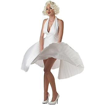 Deluxe Marilyn Monroe Pleated Dress Women Costume