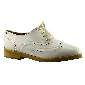 Ladies Womens Girls Work Office Back To School Lace Up Brogues Shoe