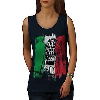 Italien kvinder NavyTank Top | Wellcoda