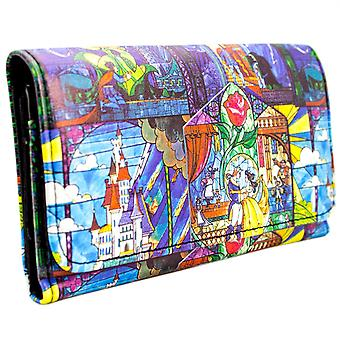Disney Beauty and the Beast Montage Coin & Card Tri-Fold Purse
