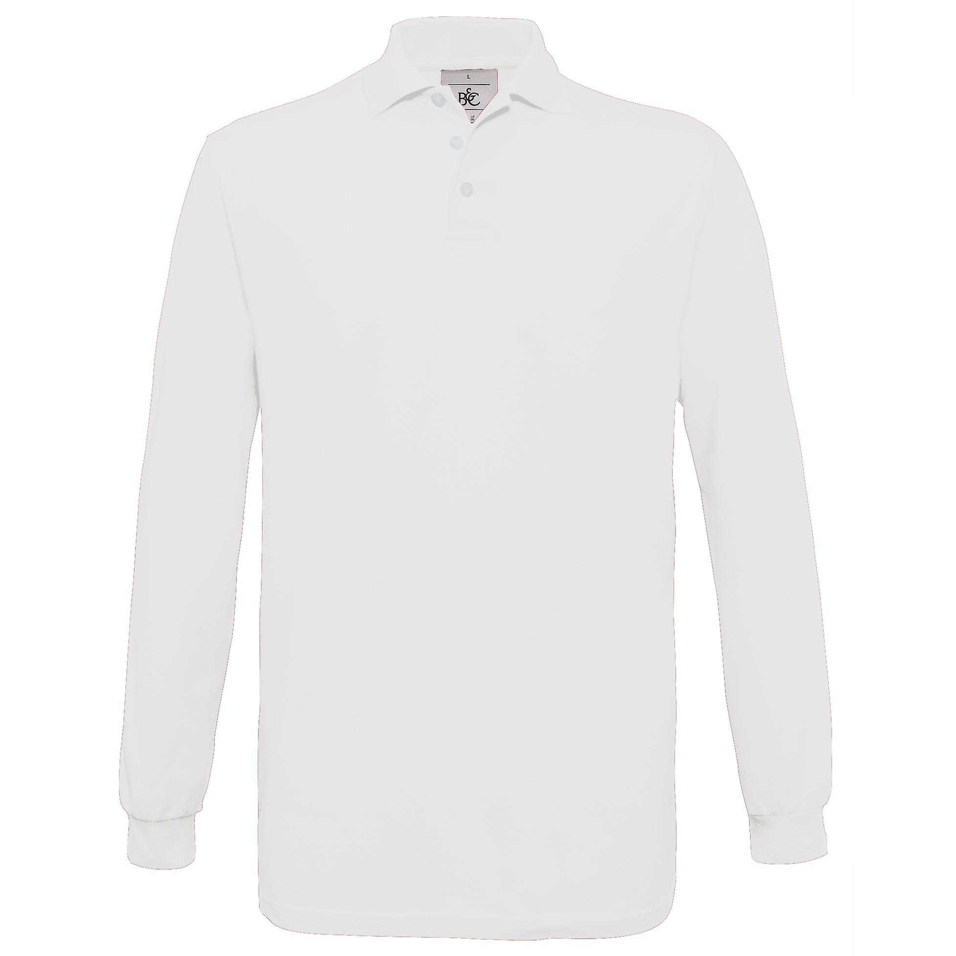 Bc Mens Safran Long Sleeve Cotton Polo Shirt