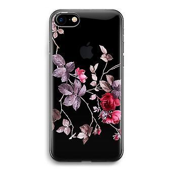 iPhone 7 transparentes Gehäuse (Soft) - schöne Blumen
