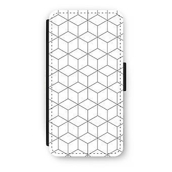 iPhone 8 Plus Flip Case - kuber svart och vitt