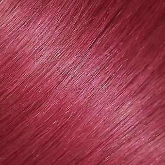 Rose Pink, 18 inches, 2pcs, 100% Real Human Hair Streaks.  Luxury Clip-in Hair Extensions for Instant Highlights
