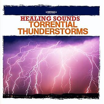 Naturljud - Healing Sounds-häftiga åskväder [CD] USA import
