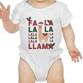 Falala Lama niedlich Urlaub Infant Bodysuit Geschenk aus weißer Baumwolle Strampler