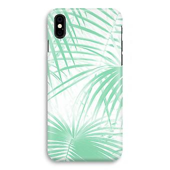 iPhone X Full Print Case - Palm leaves