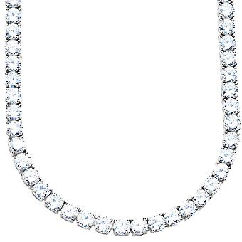 Premium bling - collar esterlina 925 plata CZ - 5mm