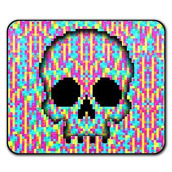 Pixel Skeleton Rock Skull  Non-Slip Mouse Mat Pad 24cm x 20cm | Wellcoda