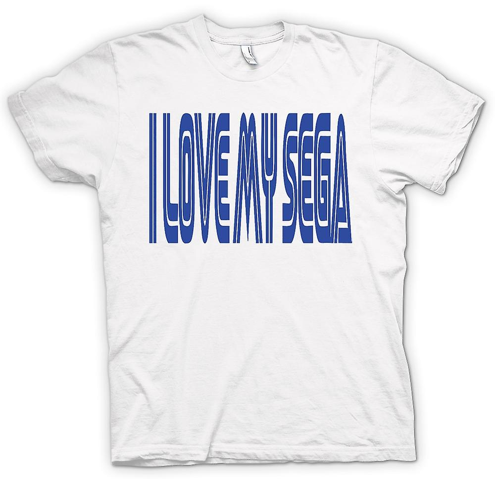 Mens T-shirt - I Love My Sega - Retro - Gamer - Funny