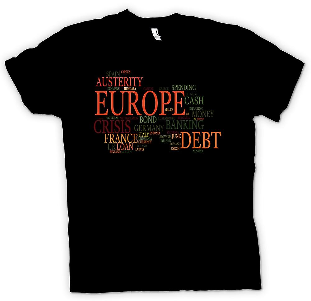 Mens T-shirt - Europe Debt Austerity - Funny