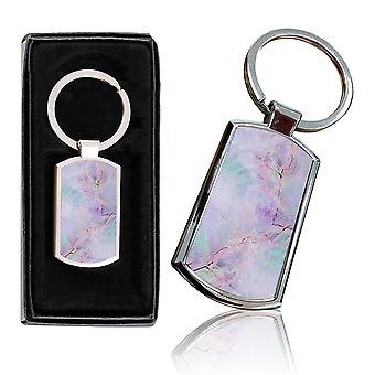 i-Tronixs - Premium Marble Design Chrome Metal Keyring with Free Gift Box (3-Pack) - 0038