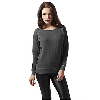Urban Classics Ladies Sweater Burnout Open Edge Crew