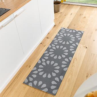 Washable kitchen runner Bloom Grau 50 x 150 cm