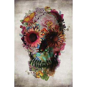 Fleur crâne fleur crâne affiche Poster Print