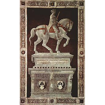 Equestrian Portrait of Sir John Hawkwood, Paolo UCCELLO, 40x60cm with tray