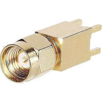 SMA reverse polarity connector Plug, vertical mount 50 Ω BKL Electronic 0419024 1 pc(s)