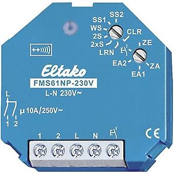 Eltako Wireless switch FMS61NP-230V Surge protection switch 1-channel Flush mount Switching capacity (max.) 2000 W Max. range (open field) 100 m