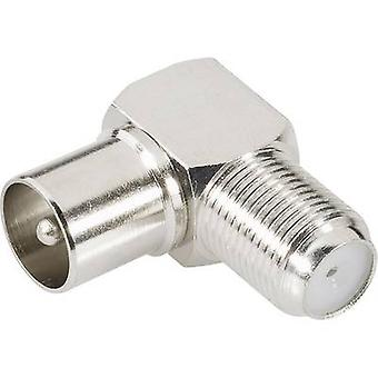 Coax adapter Coax plug - F socket BKL Electronic 0403133 1 pc(s)
