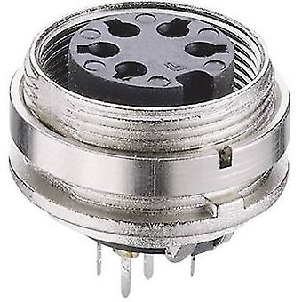 DIN connector Socket, vertical vertical Number of pins: 5 Silver Lumberg KGR 50/6 1 pc(s)