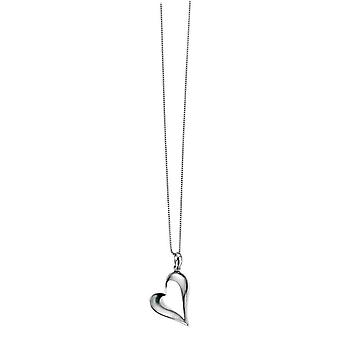 Elements Silver Polished Heart Pendant - Silver