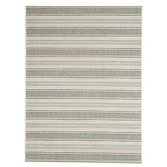 Contemporary Riga green outdoor carpet for Terrace / balcony blue green Aqua 160 / 230 cm carpet indoor / outdoor - for indoors and outdoors