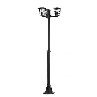 Eglo Aloria svart moderne utendørs oppkjørselen 3 hodet legge lys