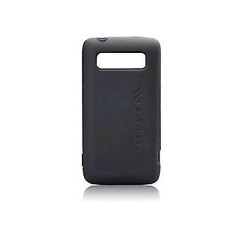 Case-Mate - seguro piel caso para HTC Trophy - negro