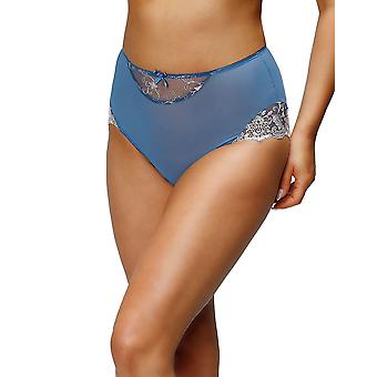 Nessa P2 Women's Simone Blue Solid Colour Knickers Panty Brief