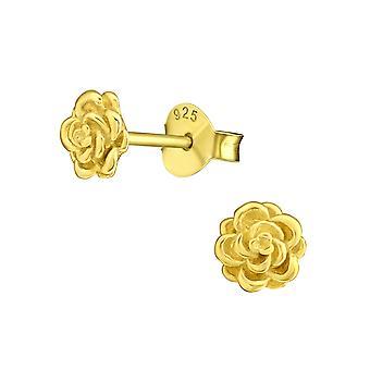 Rose - 925 Sterling Zilver Plain Ear Studs