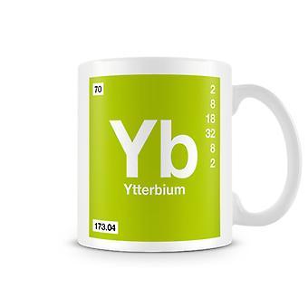 Wetenschappelijke bedrukte Mok met Element symbool 070 Yb - Ytterbium