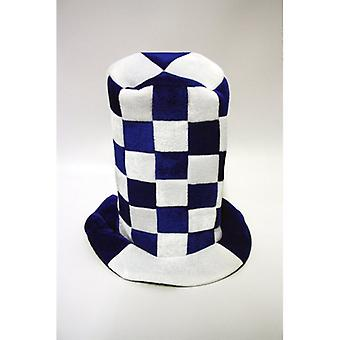 Union Jack porter chapeau de Topper damier bleu et blanc